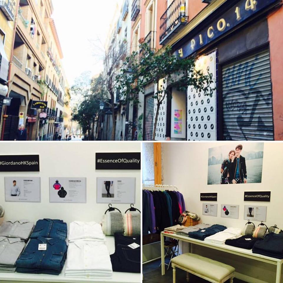 Giordano pop up markets  – Malasaña & Barrio Salamanca, Madrid (2016)