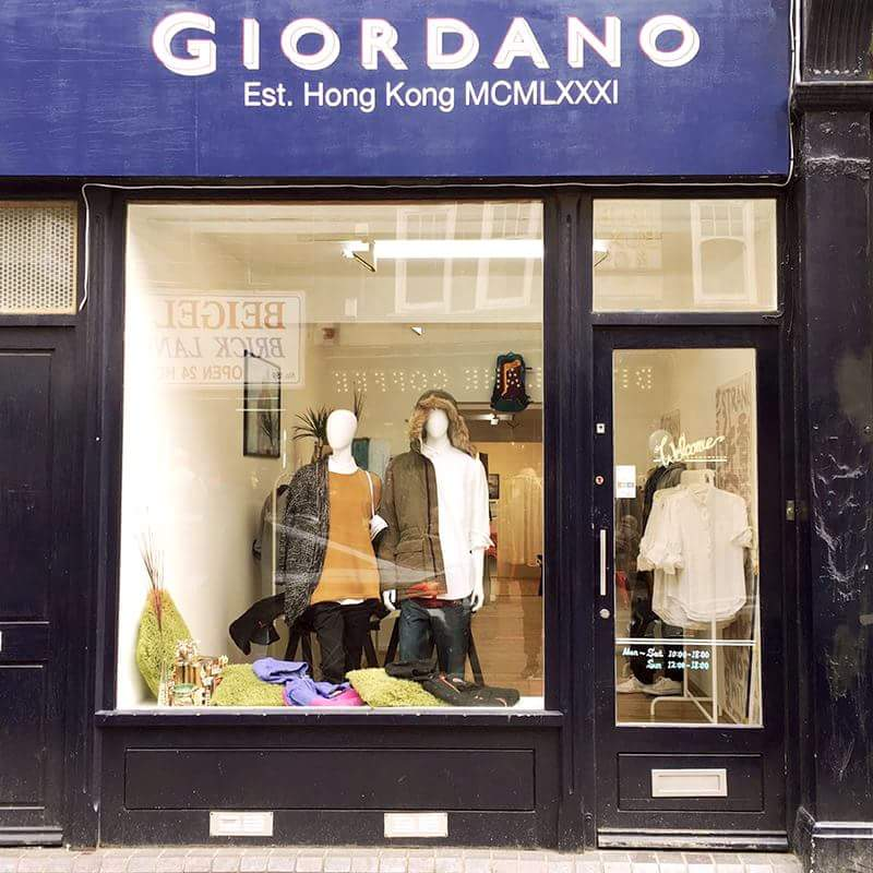Giordano pop up store London (2016)