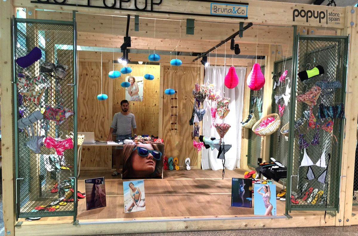 bran and co pop up store spain bikini berlin